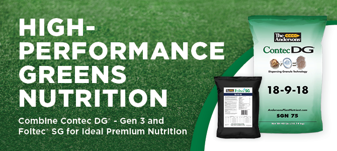 The Andersons High-Performance Greens Nutrition Contec DG - Gen 3 Foltec SG