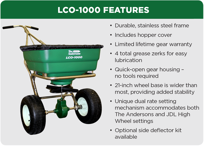 The Andersons LCO-1000 The New Standard in Lawn Care Spreaders