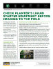 The Andersons Technical Bulletin 68 Check Planter Liquid Starter Equipment Before Heading to the Field