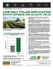 The Andersons Technical Bulletin 06 Low Salt Foliar Application Boosts Soybean and Alfalfa Yields.