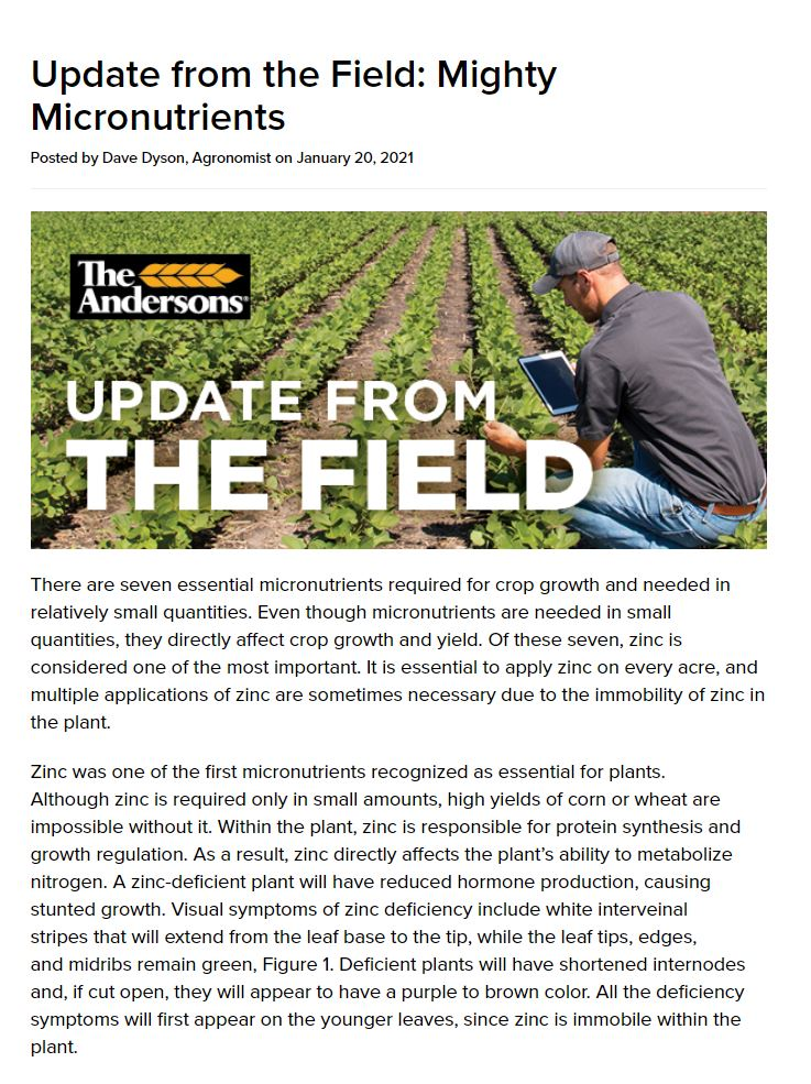 Update from the Field: Mighty Micronutrients